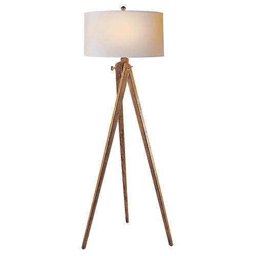 Tripod Floor Lamp, French Wax
