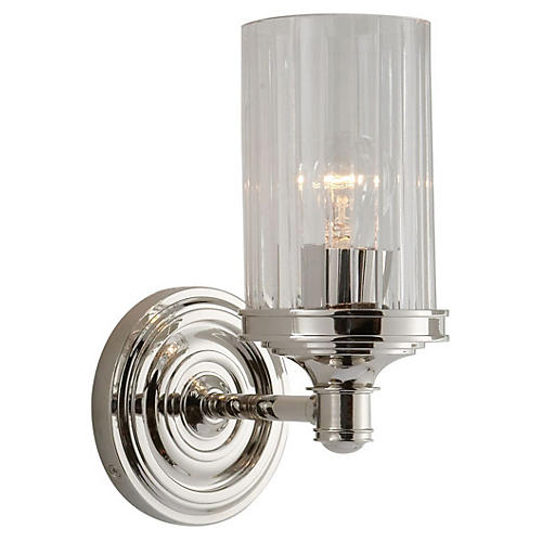 Ava 1-Light Sconce, Nickel