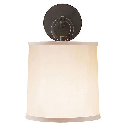French Cuff Sconce, Bronze