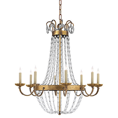 Paris Flea Market Chandelier, Gold