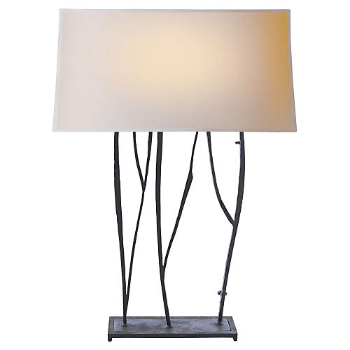 Aspen Console Lamp, Blackened Rust