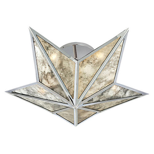 Constellation Small Flush Mount, Nickel