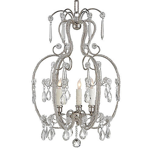 Hurley 3-Light Chandelier, Nickel