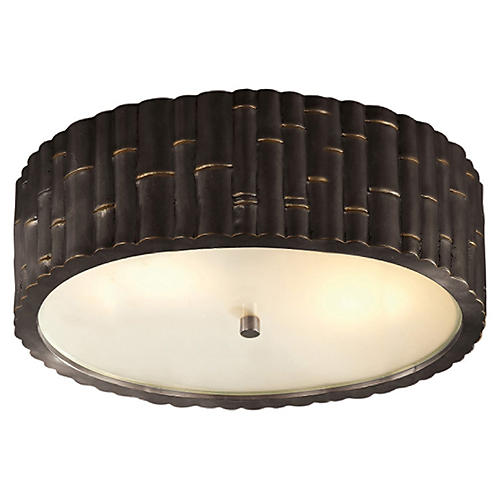 Frank Flush Mount, Gunmetal