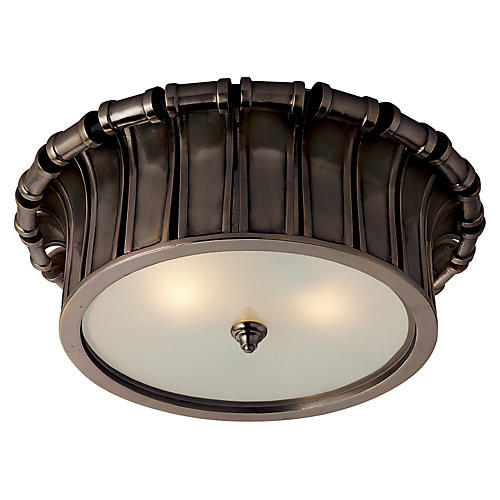 Vivien Flush Mount, Gunmetal