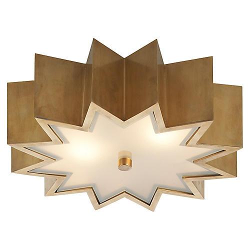 Odette Flush Mount, Natural Brass