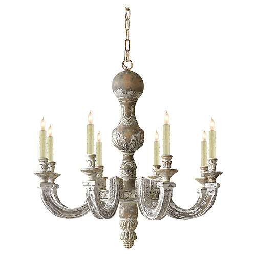 Dexter Small Chandelier, Belgian White