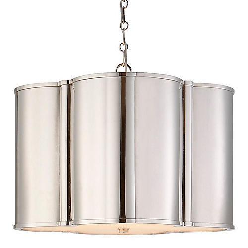 Small Basil Hanging Shade, Nickel
