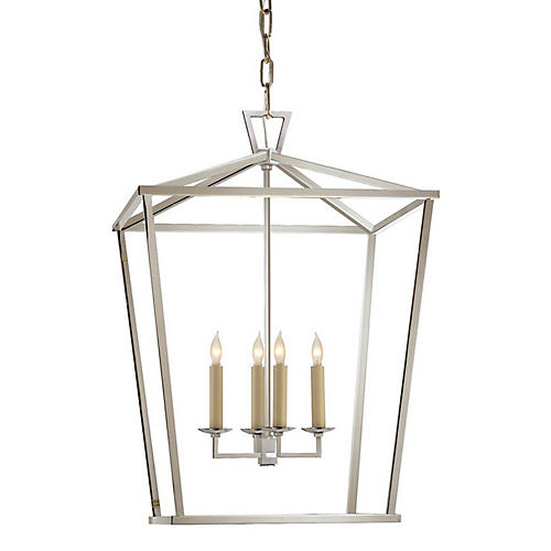 Darlana Lantern, Polished Nickel