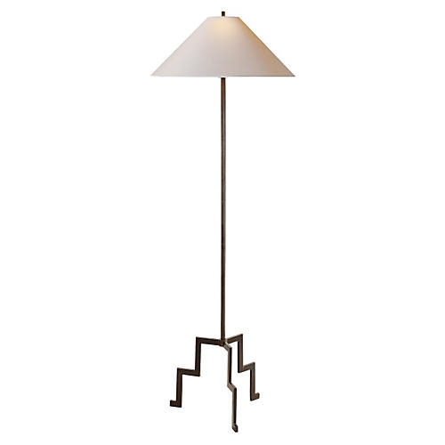 Lancaster Floor Lamp, Aged Iron