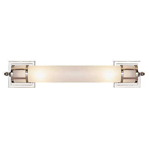 Openwork Long Sconce, Polished Nickel