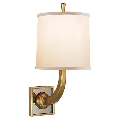 Petal 1-Light Sconce, Brass
