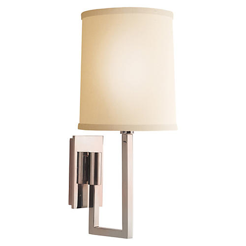 Aspect Library Sconce, Silver