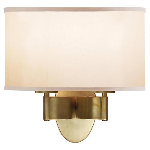 Graceful 2-Light Sconce, Brass