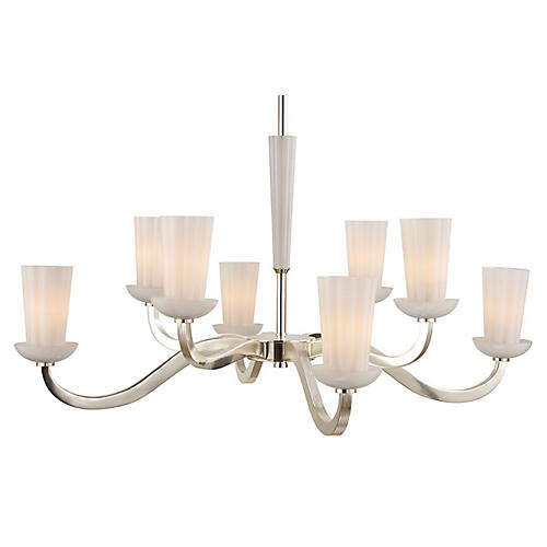 "All Aglow 41"" Chandelier, Silver"