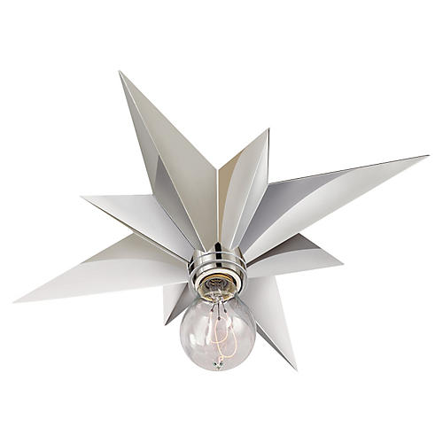 Star Flush Mount, Nickel
