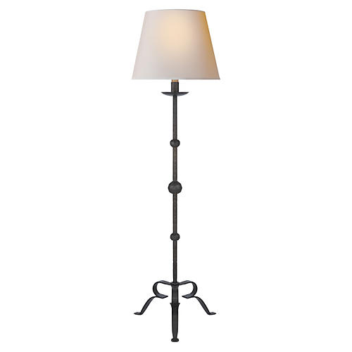 Carey Floor Lamp, Aged Iron