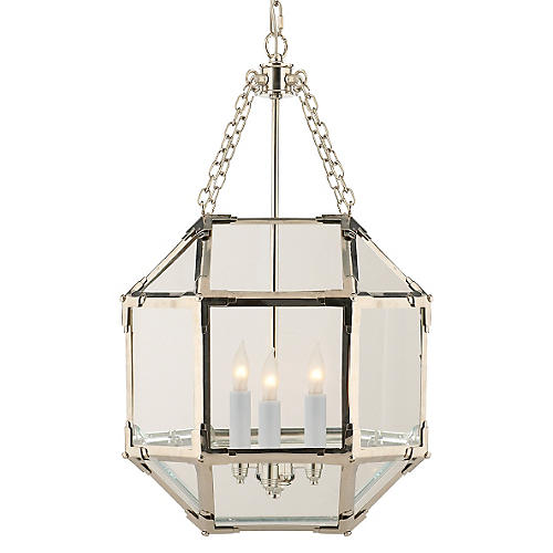 Morris Lantern, Nickel/Clear