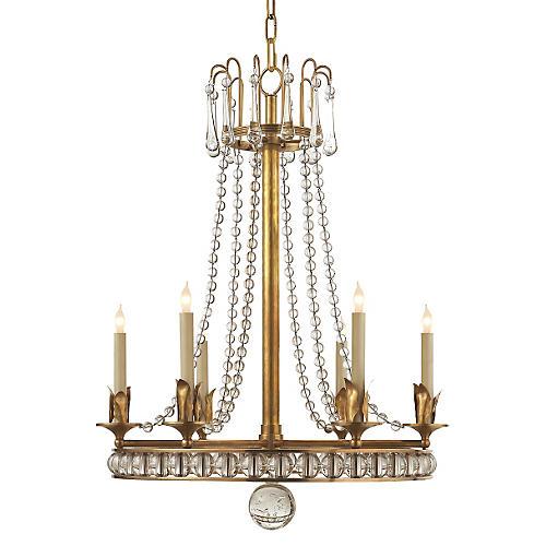 Regency-Style Chandelier, Brass