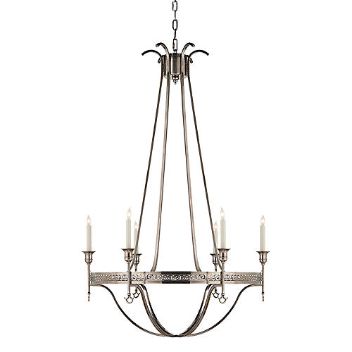 Savannah Large Chandelier, Silver