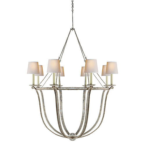 Lancaster Chandelier, Old White