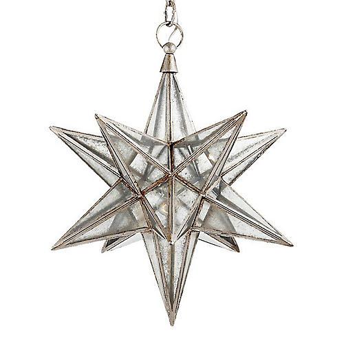 "18"" Moravian Star Pendant, Silver Leaf"