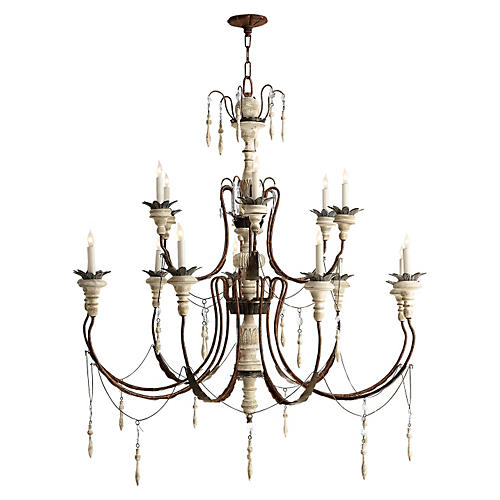 Percival Chandelier, Rusted Iron