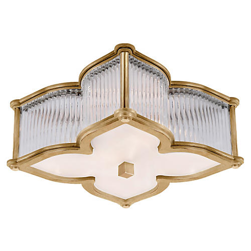 Lana Small Flush Mount, Brass
