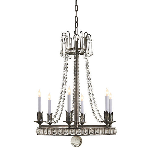 Regency Chandelier, Sheffield Nickel