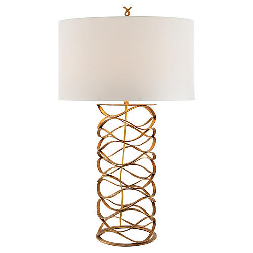 Bracelet Table Lamp, Gilded Iron