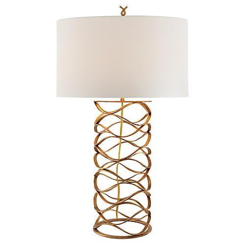 Bracelet Table Lamp, Gilded Iron