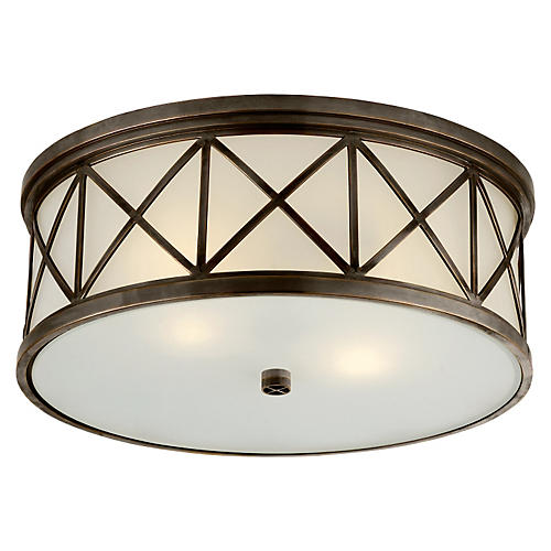 Montpelier Flush Mount, Bronze