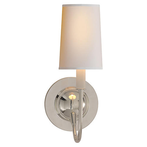 Elkins Sconce, Polished Silver