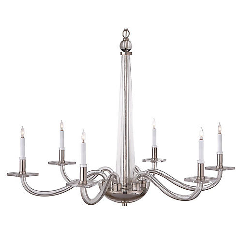 Robinson Large Chandelier, Nickel
