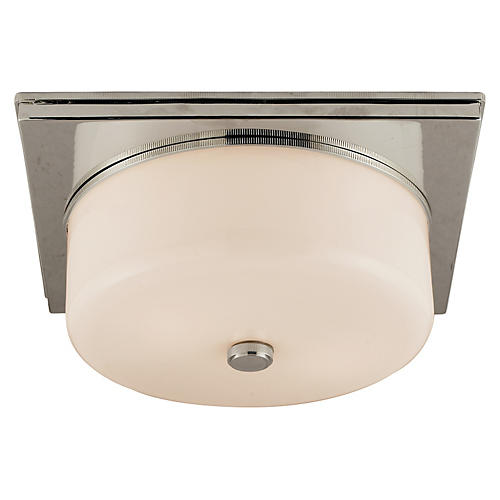 Newhouse Flush Mount, Polished Nickel