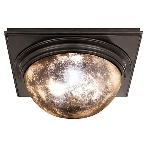 Venice Square Flush Mount, Bronze