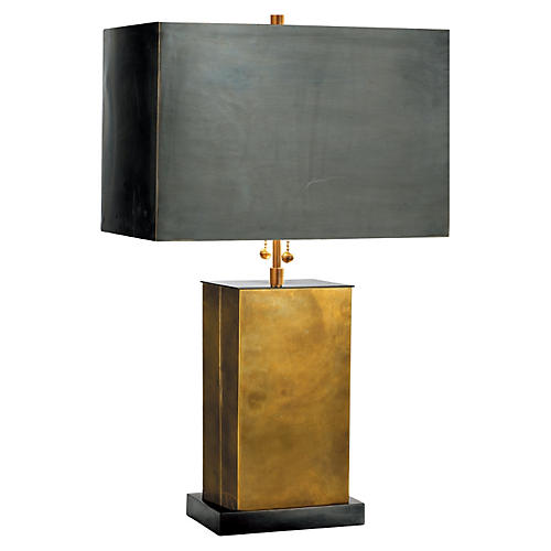 Dixon Table Lamp, Antiqued Brass/Bronze