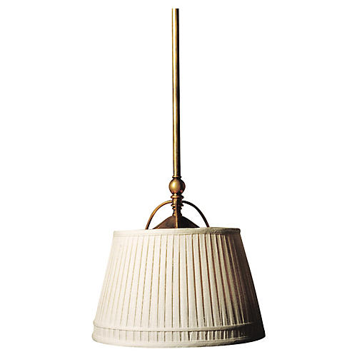 Sloane Single Shop Light, Brass