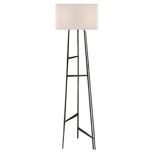 Vail Floor Lamp, Aged Iron