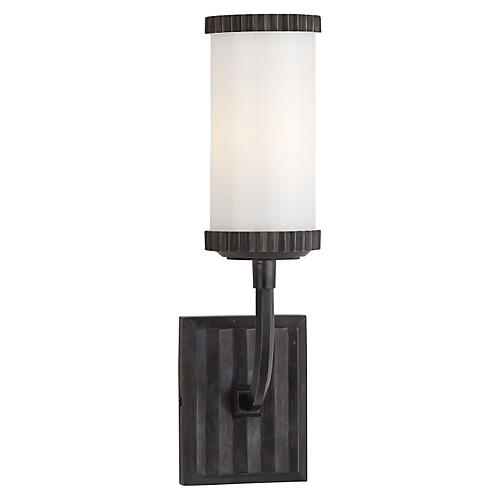 Carolina Zig Zag Single Sconce, Bronze