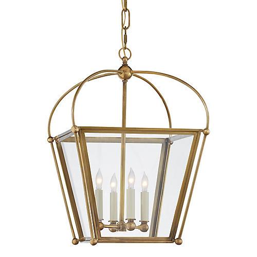 Plantation 4-Bulb Small Lantern, Brass