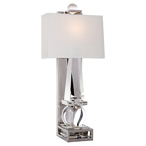 Paladin Tall Obelisk Sconce, Nickel
