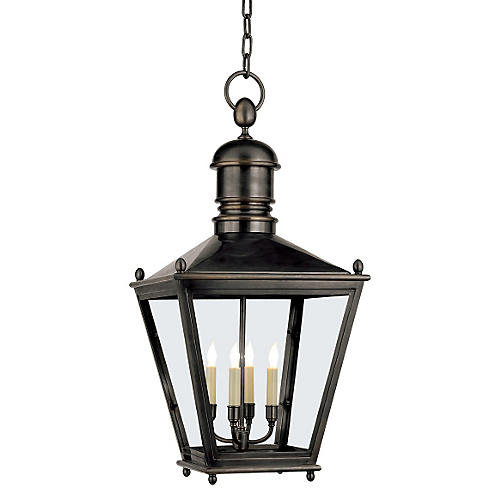 Sussex Outdoor Hanging Lantern, Bronze