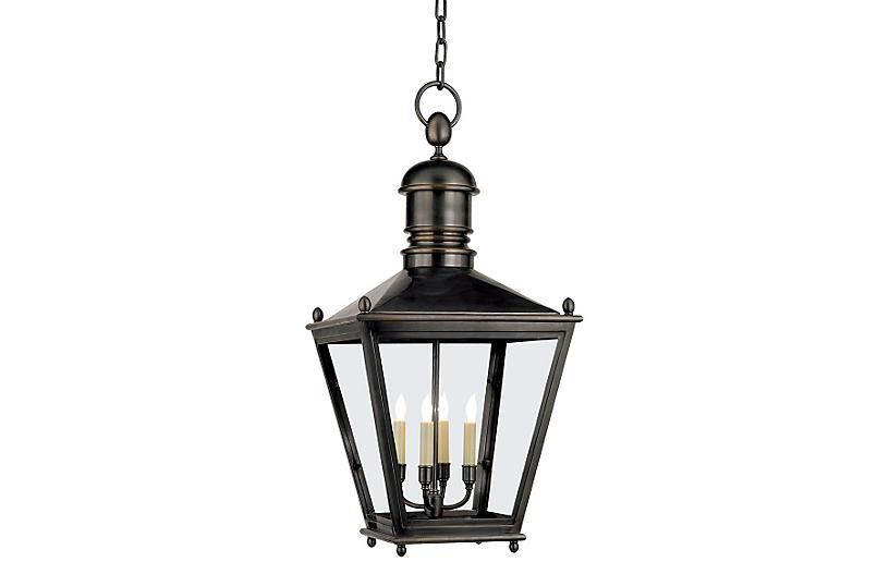 Sussex Outdoor Hanging Lantern, Bronze