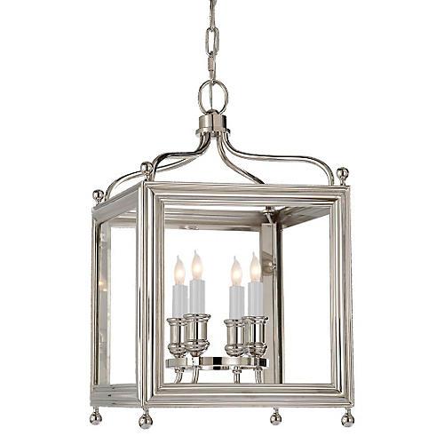 Greggory 4-Bulb Lantern, Polished Nickel