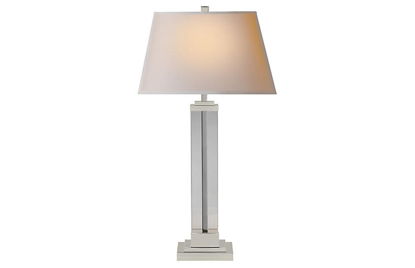 Wright Table Lamp, Polished Nickel
