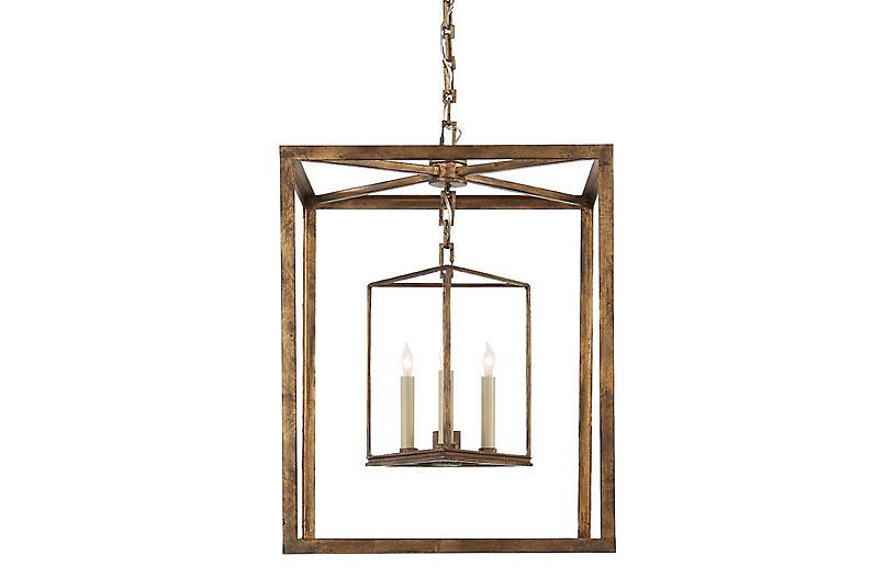 Osborne Lantern, Gilded Iron