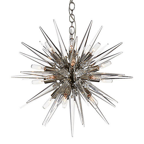 Quincy Small Sputnik Pendant, Nickel