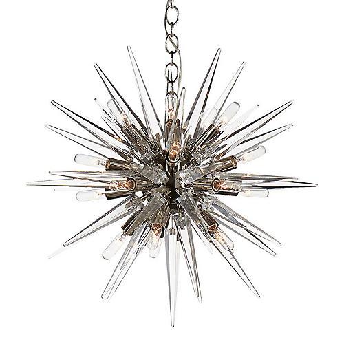 Quincy Small Sputnik Pendant, Nickel