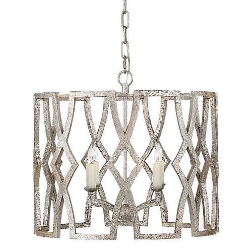 Small Brittany Lantern, Venetian Silver